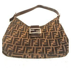 Authentic Vintage Fendi Monogram Shoulder Bag